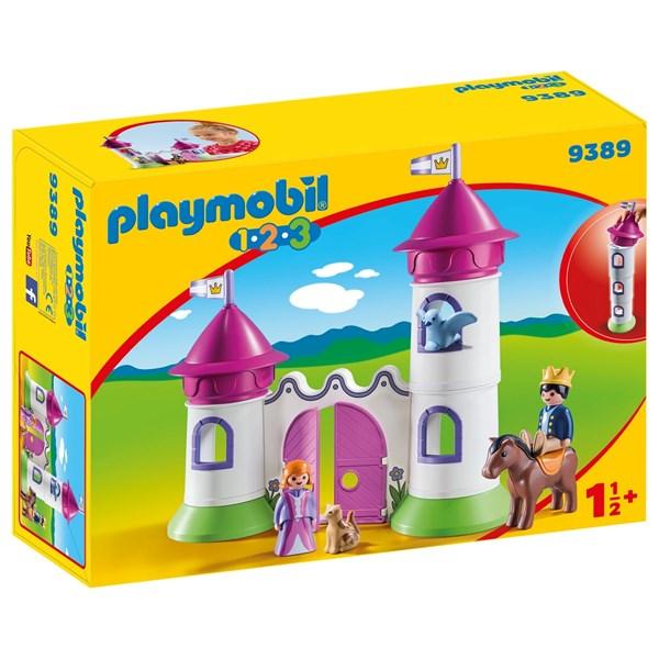 Slott med staplingsbart torn  Playmobil 1.2.3 (9389) - playmobil