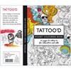 Aikuisten värityskirja, koko 10,5x14,5 cm,  20 , tatuoinnit, 1kpl