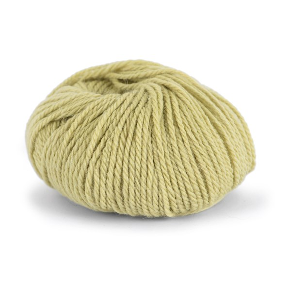 Knit At Home Chunky Alpaca Wool Ullmix 50 g Dus Gulgrønn 609
