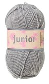 Junior Garn Akrylmix 50g Ljusgrå (67025)