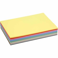 Creativ kartong, A4 210x297 mm,  180 g, mixade färger, 30mix. ark