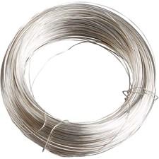 Metallilanka, 100 g, paksuus 0,6 mm, 40 m, hopeanväriset