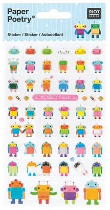 Klistermärken Robotar 1 Ark