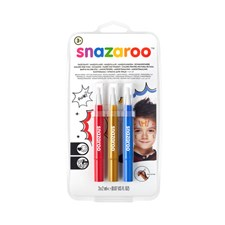 Ansiktsmaling Snazaroo Brush Pen Adventure Row sett 3