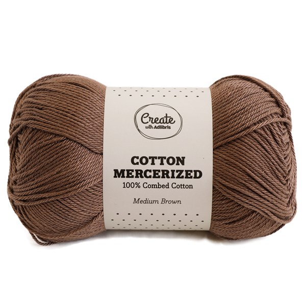 Adlibris Cotton Mercerized 100g Medium Brown A312