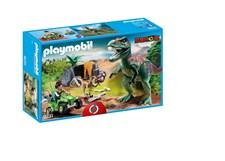 Tutkimusretkeilijä mönkijällä ja tyrannosaurus, Playmobil Dinos (9231)