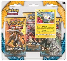 Poke Blister 3-pack, Sun & Moon 1, Togedemaru, Pokémon