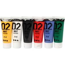 Akrylfärg Mix 02 Matta 6x20 ml