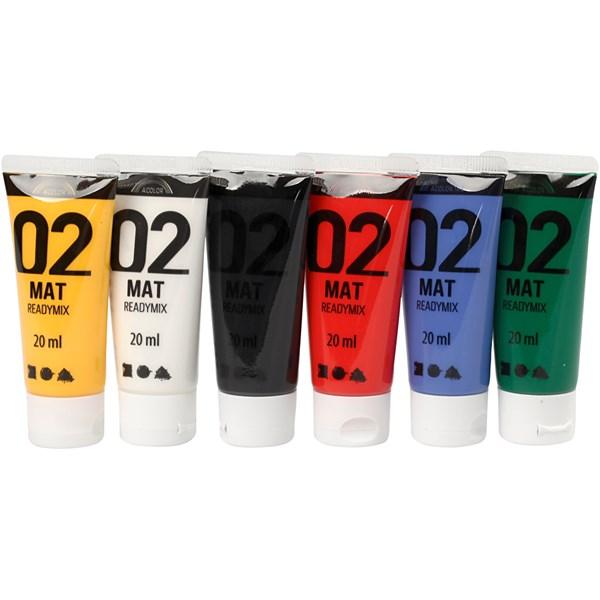 Akrylfärg Mix 02 Matta 6x20 ml