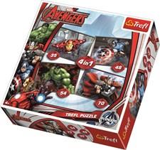 4-i-1 puslespill, Avengers, Trefl