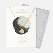 Guldpläterat Halsband, Stjärntecken Jungfrun
