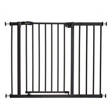 Sikkerhetsgrind Close'n Stop Safety Gate + 21 cm forlengning, Charcoal, Hauck