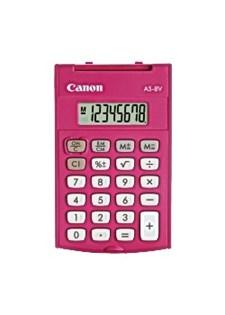 Minilaskin CANON AS-8 vaaleanpunainen