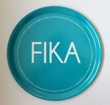 I Love Design FIKA Bricka Rund D: 38 cm Turkos