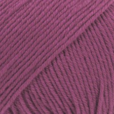 Drops, Cotton Merino Uni Colour, Garn, Ullmiks, 50 g, Lyng 21