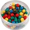 Kartnålar, L: 17 mm, dia. 6 mm, mixade färger, 100mix.