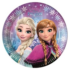 Disney Frozen Papptallrikar, 8 st