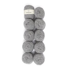 Adlibris Felting Wool 100g Medium Grey Melange A114 10 kpl