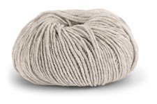 Knit At Home Superfine Merino Wool Ullgarn 50 g Ljus Gråbeige Melange 306