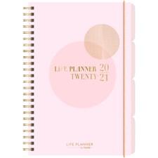Burde Kalender 20-21 Life Planner, Pink, A6