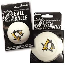 NHL Streethockeypuck + boll Pittsburgh Penguins Set