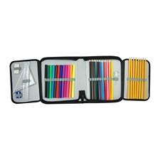 Sense fyllt pennfodral 35-delar Blått