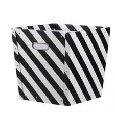Oppbevaringsboks striper, Svart, Kids concept