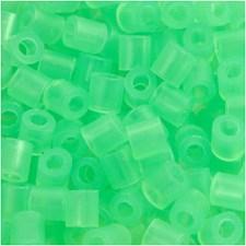 Rörpärlor 5x5 mm 6000 st Neongrön (25)