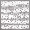 Sabloni, tiiliseinä, koko 30,5x30,5 cm, paksuus 0,31 mm, 1 ark