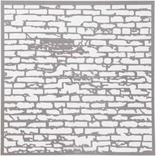 Stensil, str. 30,5x30,5 cm, tykkelse 0,31 mm, 1 ark