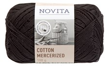 Novita Cotton Mercerized Puuvillalanka 100 g, noki 099