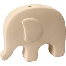 Sparbössa Elefant 16,7x14 cm Vit 8 st