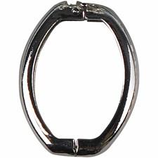 Smykkelås, twister,  20x26 mm, forsølvet, 2stk.