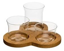 Sagaform Oval Oak Serveringsset 3 skålar