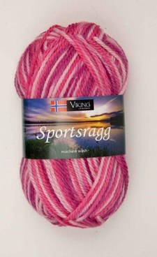 Viking of Norway Sportsragg Garn Ullmix 50g Multirosa 564