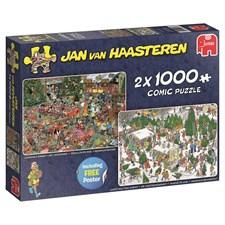 Jan van Haasteren, Christmas, Pussel 2x1000 bitar