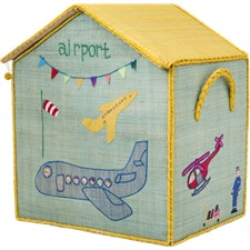 House toy Basket, Large, Ljusblå, Rice
