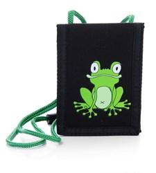 Reiselommebok Frosk, svart, Pick & Pack