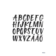 Alphabet poster by Ink & Lise 50x70 cm