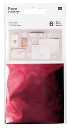 Överföringsfolie, red 6 pack, 90 x 150 mm