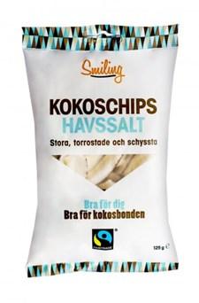 Smiling Kokoschips Havssalt, 125 g