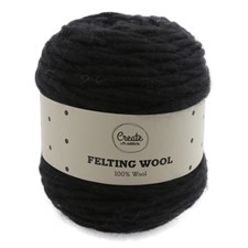 Adlibris Felting Wool 100g Black A004