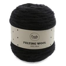 Adlibris Felting Wool 100g Black A004