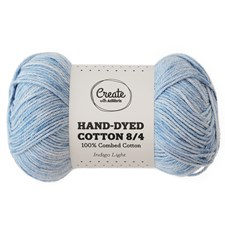 Adlibris Cotton 8/4 Hand-dyed 50g Indigo light A391