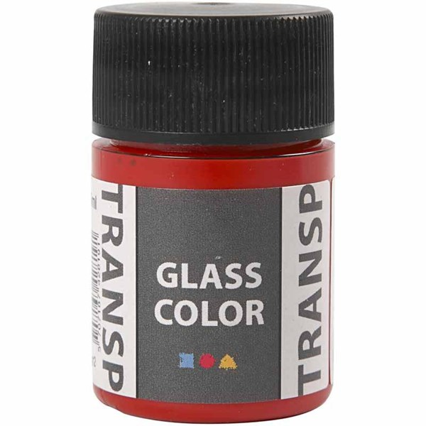 Glass Color Transparent lasimaali, 35 ml, punainen