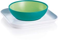 Baby´s Bowl & Plate, Grön/Vit, MAM
