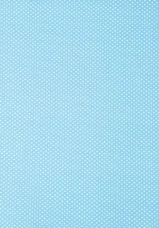 Självhäftande Tyg A4 Prickar Blå Polyester