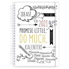 Kalenteri 2021 Scribble A5 Burde