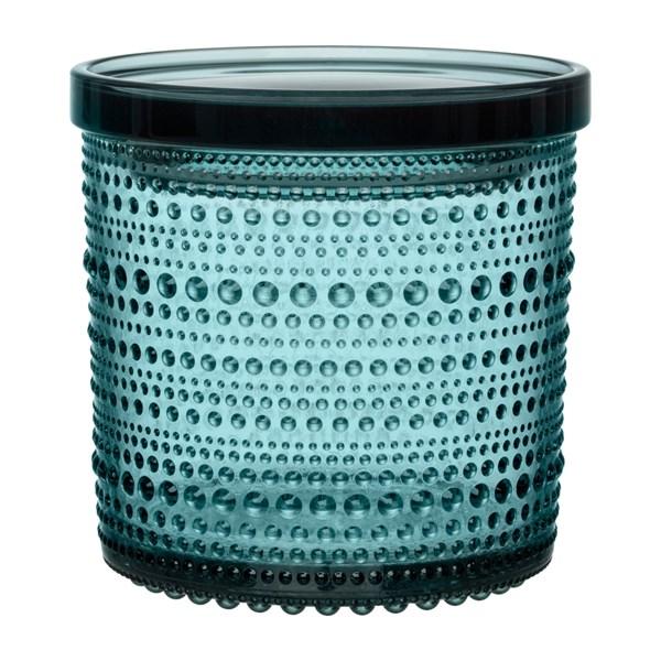 Iittala Kastehelmi Burk 11 6x11 4 cm Havsblå (blå) - köksförvaring
