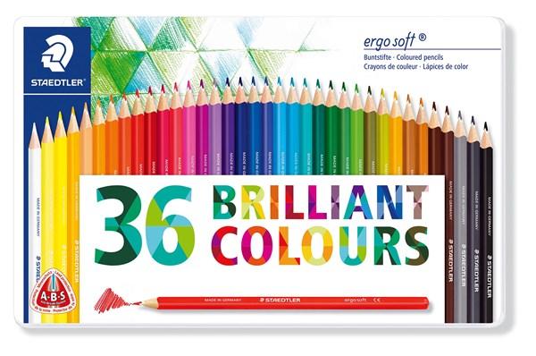 Färgpennor trekantiga  STAEDTLER ergosoft®, 36-pack